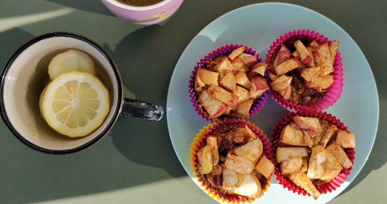 Amandelappel muffins
